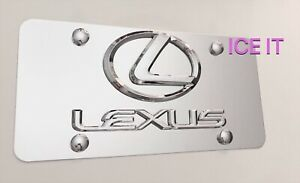 F Sport Lexus Front Vanity License Plate Mirror Stainless Steel Heavy Duty