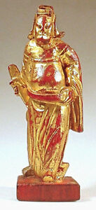 Antique Chinese Gilt Statue Of An Actor