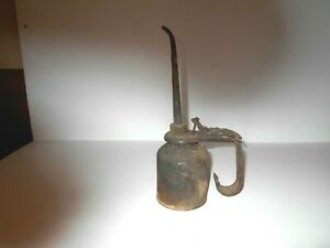 Antique Primitive Oil Can With Handle