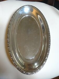 Elegant Sterling Silver Oval Serving Dish By Alvin S126 216g