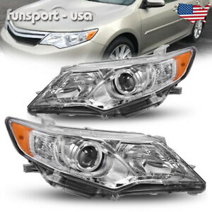 Headlights Assembly For 2012 2014 Toyota Camry Projector Headlamps Left Right