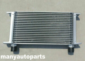 Silver Universal 19 Row An 10an Engine Transmission Racing Oil Cooler Aluminum