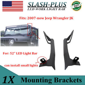 Fits 1997 2006 Jeep Tj Wrangler A Pillar Mounting Brackets 50 In Led Light Bar