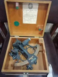 Vintage Nautical Marine Sextant Of Great Britain Gb1