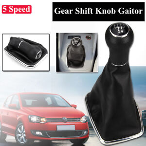5 Speed Shifter Gear Shift Knob Gaitor Boot For 1999 2004 Vw Mk4 Golf Jetta Gti