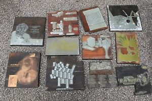Vintage Printing Blocks For Record Albums And Artwork