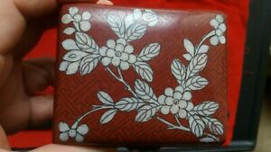 Antique Cloisonne Chinese Box 3 5 Inch X2 75 Signed