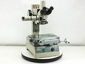 Nikon Um 2 Measurescope Microscope With Trinocular Head And 4 Slot Turret