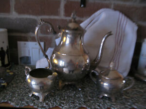 10 In Tall Hinged Fb Silver Co Tea Coffee Service Set 1883