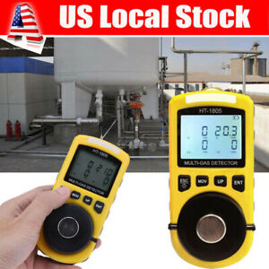 4 In 1 Toxic Gas Detector Co O2 H2s Oxygen Lel Multi Gas Monitor Analyzer Tool