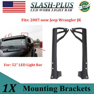 A pillar Mounting Brackets For 1987 1995 Jeep Yj Wrangler 50 288w Led Light Bar