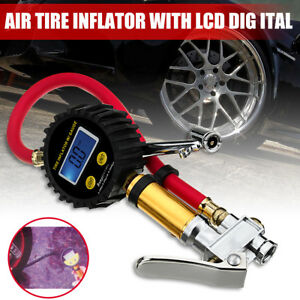 Lcd Air Tire Digital Tyre Inflator High Accurate Pressure Gauge With Dual