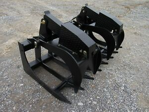 Bobcat Skid Steer Attachment 66 Severe Duty Root Grapple Bucket Ship 199