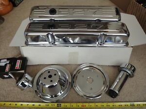 Sale Chrome Engine Valve Covers Vintage 327 Chevrolet Small Block Chrome Kit