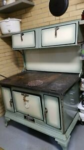 Early 20th Century Wood Cook Stove By Range Qualified