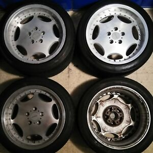 17 Enkei Sporsh Jdm 5x114 3 Full Face Dish Mesh Wheels Rare 17x9 17x8 Authentic