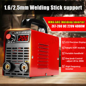 Zx7 200 Handheld Igbt Inverter Mma Arc Welding Mini Welder Machine 30 200a