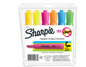 Sharpie Accent Smear Guard Tank Style Highlighter Chisel Tip Assorted Pack Of