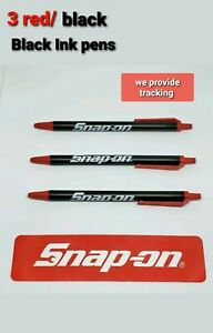 3 Snap On Tools Items 3 Snap On Pocket Pens Black Red Brand New