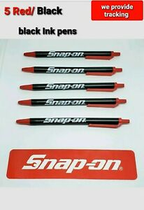 5 Snap On Tools Items 5 Snap On Pocket Pens Black Red Brand New