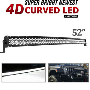 52 inch 700w Curved Led Light Bars Combo Offroad Roof Light For Truck Atv 50 54