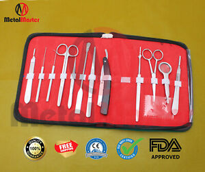 Student Biology Anatomy Dissecting Set Of 5 Pieces Kits Surgical Supplies