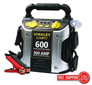 New Stanley Power Station Jump Starter 600 Peak 300 Instant Amps Battery Clamps
