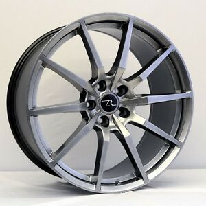 20 Hyperblack Shelby Mustang 166 Style Wheels 20x8 5 20x10 Flow Formed 05 18