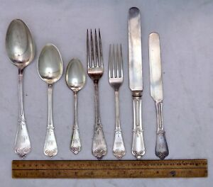 Old Beekman Tiffany Flatware 44 75 Oz Sterling Silver 1869 Engraved Mm 27 Pieces
