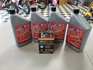 Lucas Synthetic Oil Change Kit 84 99 Harley 1340cc Big Evo Blockhead Chrome Filt