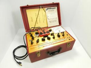 Hickok 6000a Dynamic Mutual Conductance Tube Tester W Orig Manual Sn 32700011