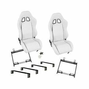 Summit Racing Sport Seat Combo Dial Recliner White Vinyl Cover Ford Pr Csum4002