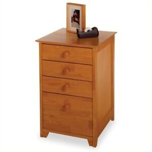 Winsome 4 Drawer Wood Vertical Filing Cabinet In Honey Pine