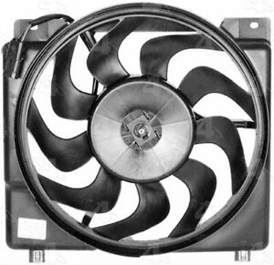 Four Seasons Fan Replacement Electric Single 6 Blades Black Shroud Jeep Each