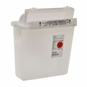 Covidien 8506sa Sharpsafety 5qt Sharps Container Counterbalance Lid Case Of 20