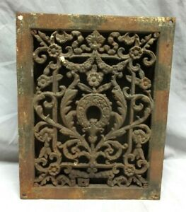 Antique Cast Iron Decorative Heat Grate Floor Register 9x12 Vintage 306 19c