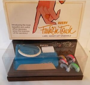 Vintage Avery Fashion Touch Label Maker Turquoise Mib Factory Sealed