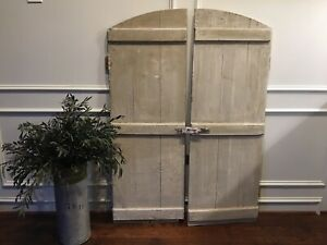 Pair Of Vintage Architectural Salvage Wood Window Shutters