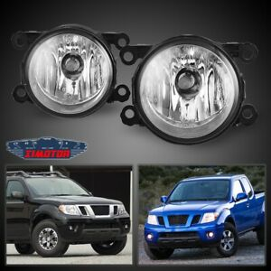 Fit Nissan Frontier 05 19 Clear Lens Pair Bumper Fog Light Lamp Oe Replacement