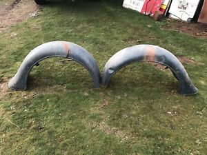 1935 1936 1937 Ford Pick Up Original Rear Fenders Early Take Offs