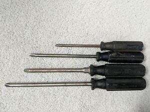 Lot Of 4 Snap On Tools Octo grip Screwdrivers Sdr4 Sdp63 Sdr64 Sdr8