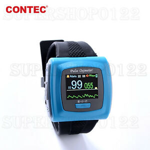 Usa Fda Cms50f Wrist Oximeter Pr Oled Pulse Oxygen Saturation Finger Spo2 Probe