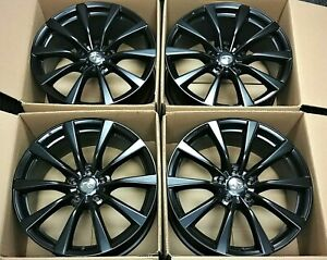4 Factory Infiniti G37 19 Oem Staggered Wheels Black Rims