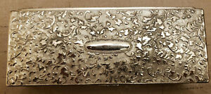 Silver Plated Jewerly Box With Mirror Ornate Heavy