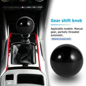 Mt Car Shift Knob Solid Color Ball Shaped Gear Stick Shifter Lever Head Black