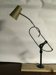 Vintage Industrial Articulating Task Work Light Lamp Fixture Steampunk Sewing