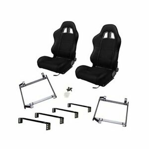 Summit Sport Seat Combo Dial Recliner Blk Fabric Cover Chevy Pr Csum4007