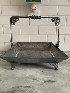 Victorian Reed Barton Square Silver Plate Brides Basket 9x8