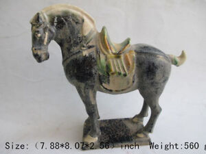 20cm Tang Sancai Ceramics Collection Horses In Ancient China