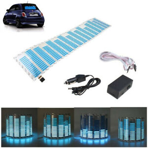 70 16cm Blue Car Sticker Music Rhythm Led Flash Lamp Sound Activated Equalizer
